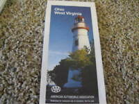 Vintage 1995 AAA Map OHIO WEST VIRGINIA + AAA 1989 TourBook IL, IN, OH