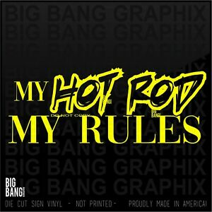 Sticker Decal Hot Rod Label Chevy Ford Dodge Rat Rod USA Mechanic Toolbox Tool
