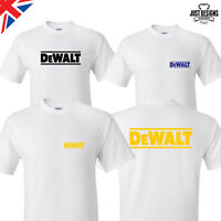 White Logo T-shirt Shirt Adults Mens Ladies Kids S-5XL Power Tools DIY Dewalt