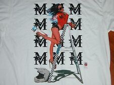 Monarch Moto THE RISK Sexy Girl Motorcycle T Shirt Tee Mens XL Biker Babe