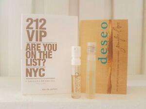 Carolina Herrera 212 VIP EDP&Jennifer Lopez Deseo EDP 1.5ml vial