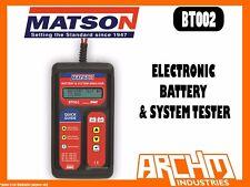 MATSON BT002 ELECTRONIC BATTERY & SYSTEM TESTER CHARGE 6V 12V 24V