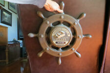 Harris Flote-Bote,1971-72,silver award,advertising,rare,ship wheel pontoon sign