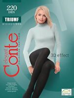 X3 Women's Warm Microfiber Tights Conte 3D knitting TRIUMF 220 Den S M L XL XXL