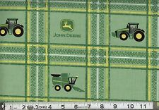 JOHN DEERE TRACTOR PLAID FABRIC CP59372