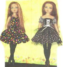 "Sewing  Pattern fits 16""  Ellowyne Wilde Dolls BJD  gloves stockings dress"