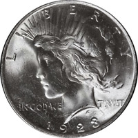 1923-P Peace Dollar PCGS MS64+ Superb Eye Appeal Fantastic Luster - STOCK