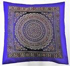 Housse de coussin 50 x 50 cm Mandala brocart décoratif Taie d'oreiller indien