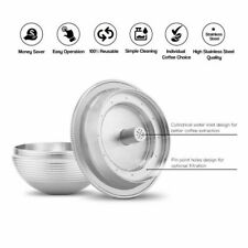 Nespresso Vertuo Stainless Steel Reusable Refillable Coffee Filter Capsules