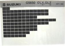 Suzuki GS650 GS650GL 1981 1982 Parts Microfiche s362