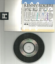 KENNY ROGERS If you want to find love SPECIAL PACKAGING PROMO DJ CD single 1991