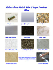 Formica Countertop Update: Faux Marble, Granite, Stainless & Mirror Samples