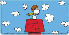 Snoopy Leather Checkbook Cover