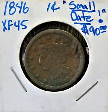 1846 1C Small Date >Coins: Us > Large Cents > Braided Hair