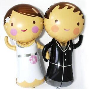 1Pc Groom Bride Boys and Girls Foil Balloons Wedding Decoration 43cm x 20cm