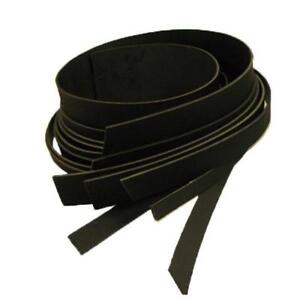 "Buffalo Leather Strips 8/9 ounce 4"" (102mm) Black"