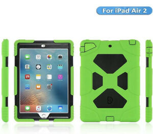 Aceguarder- Green Black Heavy Duty iPad Air 2 Case With Kickstand