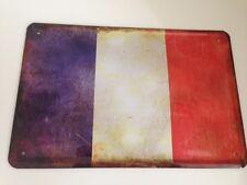 Escudo de chapa países bandera bandera nacional francia france 20x30 cm decorativa 05