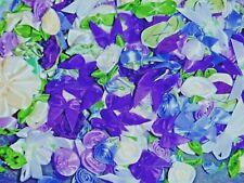 250+ Satin Ribbon Roses and Bows-Shabby Mix-Purples