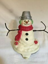 Rare Hallmark Mitford Snowman Murphy Iron Metal Christmas Stocking Hanger Holder