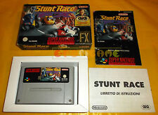 STUNT RACE FX Super Nintendo Snes Versione PAL Italiana ○○○○○ COMPLETO