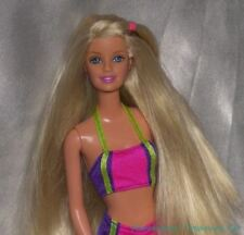 2000 Surf City Barbie Generation Girl Rubia con / Bloque Color Bikini Moda