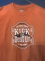 Men's Rodeo T-Shirt 4-H Rodeo Finals Kick the Dust UP Rust color Large Dry Blend
