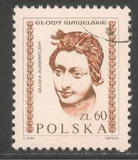 Poland #2536 (A795) VF USED CTO 1982 - 60z Carved Head, Wawel Castle