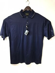 Bobby Jones Exclusive For Grey Goose Vodka Golf Navy Polo Shirt Men's Large  New