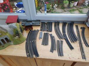 Job lot 28+ accessori Track For Hornby Etc train Sets Model Railways 00 OO Gauge