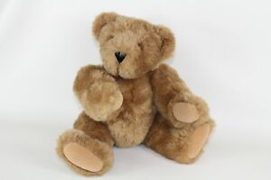 Vermont Teddy Bear Born in Vermont 2010 Stamped Eyes 16 Inch Jointed Brown