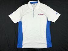 adidas Kansas Jayhawks - Men's White/Blue Polo Shirt (M) - Used