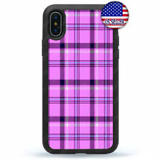 Lavender Plaid Case Cover For iPhone X Xs Max XR 8 7 6 Plus 5 4 Winter Fashion
