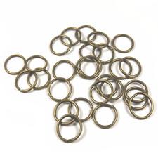 40 Anneaux de jonction 12mm Simples ouverts en Métal Couleur Bronze Connecteurs
