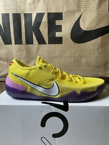 Nike Men's Kobe AD NXT 360 Yellow Strike Size 10.5 AQ1087 700