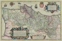 Portugal Decorative Antique Style Map Poster 24x36 inch