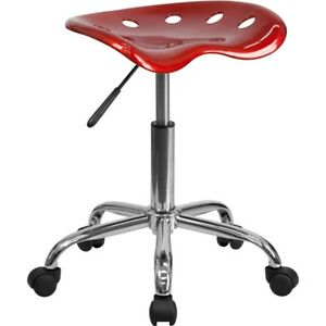 Flash Furniture Red Plastic Stool, Red - LF-214A-WINERED-GG