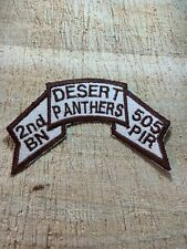 1990s/Iraq? Us Army Scroll Patch-2nd Bn 505 Pir Desert Panthers-Original Beauty!