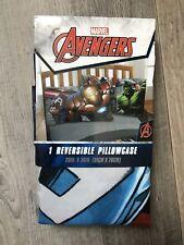 """Marvel Avengers ~ Reversible Pillowcase ~ 20"""" x 30"""" ~ 100% Polyester New"""