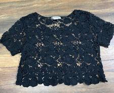 Demanding Crochet Top Size Small Black