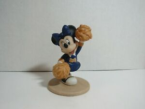 Vintage Disney Porcelain Figurine Minnie Mouse Cheerleader