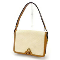 Gucci Shoulder bag G logos Beige Brown Woman unisex Authentic Used T4237