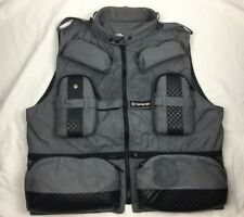 Men's TAMRAC PHOTO PRESS VEST size L large MADE IN USA Gray