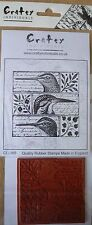 Crafty Individuals Unmounted Rubber Stamp, Quirky Birds CI-265