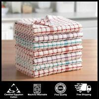 Set of 6 Sparkle Metallic Printed Tree Cotton Kitchen Tea Towels 45x70cm