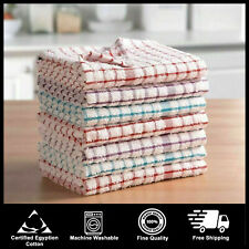 Pack Of 15 100% Cotton Kitchen Terry Tea Towels Set Dish Cloths Cleaning Drying