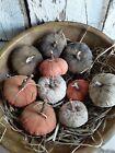 Primitive Mini Flat Pumpkins Bowl Fillers