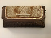 Brahmin Soft Checkbook Wallet Honey Carlisle Genuine Leather $195 NWT