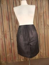 Clio Leather Skirt A-Line Back Zipper Fully Lined Black Size 4