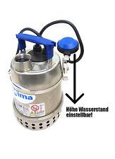 Schmutzwasser- Tauch- Edelstahl- Pumpe Schwimmerhalter enge Schächte Optima MA